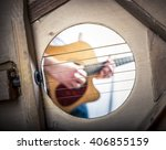 playing guitar seen from inside | Shutterstock . vector #406855159