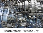 jet engine  internal structure... | Shutterstock . vector #406855279