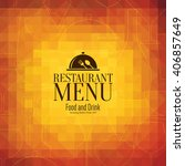 restaurant menu design. vector... | Shutterstock .eps vector #406857649
