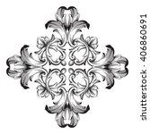 vintage baroque frame scroll... | Shutterstock . vector #406860691