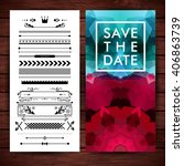 save the date poster and... | Shutterstock .eps vector #406863739