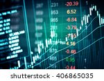 financial data on a monitor.... | Shutterstock . vector #406865035