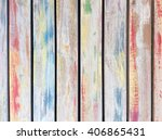 old shabby paint on the wood... | Shutterstock . vector #406865431
