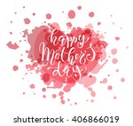 happy mother's day text as... | Shutterstock .eps vector #406866019