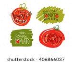hand sketched lettering... | Shutterstock .eps vector #406866037