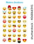 modern emoticons set. emoticons ... | Shutterstock .eps vector #406866541