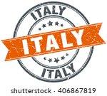 italy red round grunge vintage...   Shutterstock .eps vector #406867819