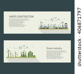 green industry and under... | Shutterstock .eps vector #406871797