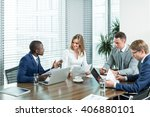 business professional in office | Shutterstock . vector #406880101