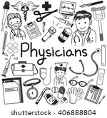 physician doctor and other... | Shutterstock .eps vector #406888804