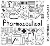 pharmaceutical and pharmacist... | Shutterstock .eps vector #406891555