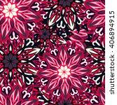 seamless round ornament pattern.... | Shutterstock .eps vector #406894915