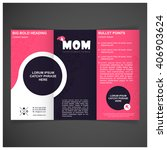 creative mother day pink and... | Shutterstock .eps vector #406903624