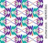 tribal art boho aztec pattern.... | Shutterstock .eps vector #406905361