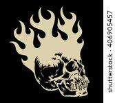 the skull in fire   t shirt... | Shutterstock .eps vector #406905457