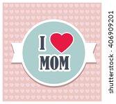 I Love Heart Mom Pattern...