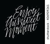 enjoy this sweet moment....   Shutterstock .eps vector #406909261