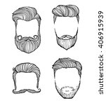 man hairstyle. set of hand... | Shutterstock .eps vector #406915939