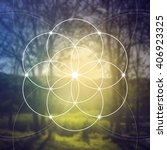 sacred geometry. mathematics ... | Shutterstock .eps vector #406923325