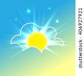 sunrise icon illustration.... | Shutterstock .eps vector #406927921