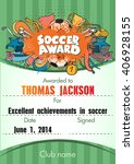 soccer award.  template with... | Shutterstock .eps vector #406928155