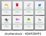 corporate identity vector... | Shutterstock .eps vector #406928491