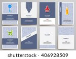 corporate identity vector... | Shutterstock .eps vector #406928509