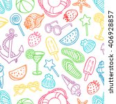 cute seamless pattern with... | Shutterstock .eps vector #406928857