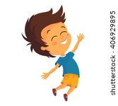 vector illustration of happy a... | Shutterstock .eps vector #406929895