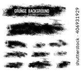 set of black ink vector stains | Shutterstock .eps vector #406931929
