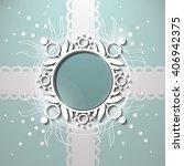 vector flower shape for wedding ... | Shutterstock .eps vector #406942375