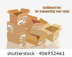 cardboard box for transporting... | Shutterstock .eps vector #406952461