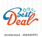 best deal typography with blue... | Shutterstock .eps vector #406960591
