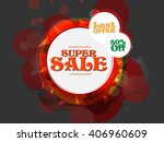 sale vector abstract with... | Shutterstock .eps vector #406960609