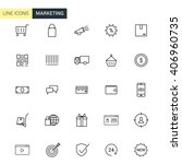 vector set marketing line icons | Shutterstock .eps vector #406960735