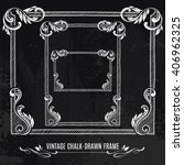set of chalk drawn ornamental...   Shutterstock .eps vector #406962325