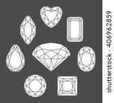 vector diamonds of various... | Shutterstock .eps vector #406962859