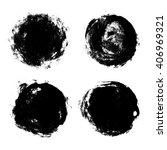 grunge circles  vector... | Shutterstock .eps vector #406969321