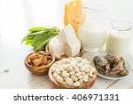 selection of food that is rich... | Shutterstock . vector #406971331