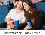 could have stayed home. shot of ...   Shutterstock . vector #406977415