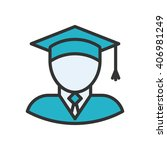 graduate fully scalable vector... | Shutterstock .eps vector #406981249