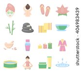 spa icons set. spa icons flat....