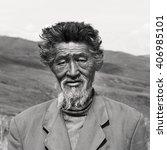 Small photo of Senior Mongolian Solitude Traquil Rural Remote Concept