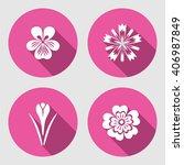 Flower Icons Set. Primula ...