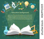 time to education open book... | Shutterstock .eps vector #406991035