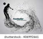 silhouette of a football player ... | Shutterstock .eps vector #406992661