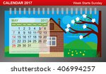 calendar 2017 with changing... | Shutterstock .eps vector #406994257