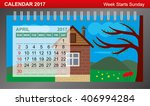 calendar 2017 with changing... | Shutterstock .eps vector #406994284