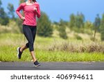 female runner outdoors.  | Shutterstock . vector #406994611