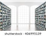 library interior design with... | Shutterstock . vector #406995139